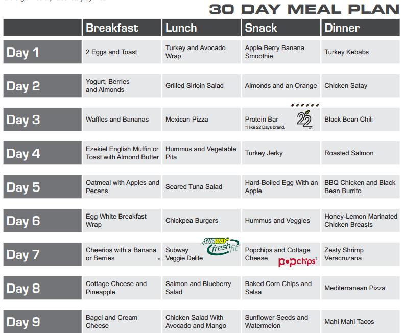 Pin 30 Day Meal Plan Eating Planclick First Link Below